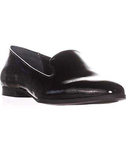 Price comparison product image Alfani Womens Oceanaa Leather Closed Toe Loafers,  Black Patent,  Size 8.5