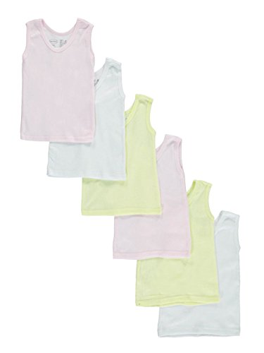 Undershirt Baby Cotton (bambini Baby Girls' 6-Pack Tank Tops - Pink, 12-18 months/19-26 lbs)