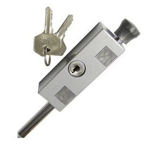 Sliding Door and Window Lock Aluminum (Patio Door Lock - Keyed)