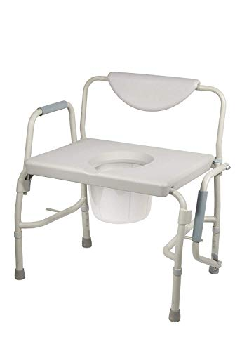 Drive Medical Deluxe Bariatric Drop-Arm Commode, - Bedside Commode Medical Supplies