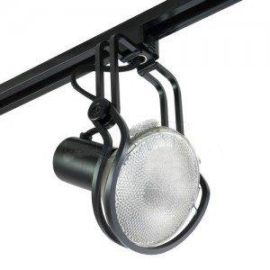 Track Light Line Voltage PAR38 Designer Series Wireforms Mini Track Fixture - Black-2PK