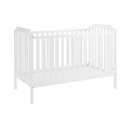 Baby Relax The Willow Convertible 2-in-1 Crib to Toddler Bed, White