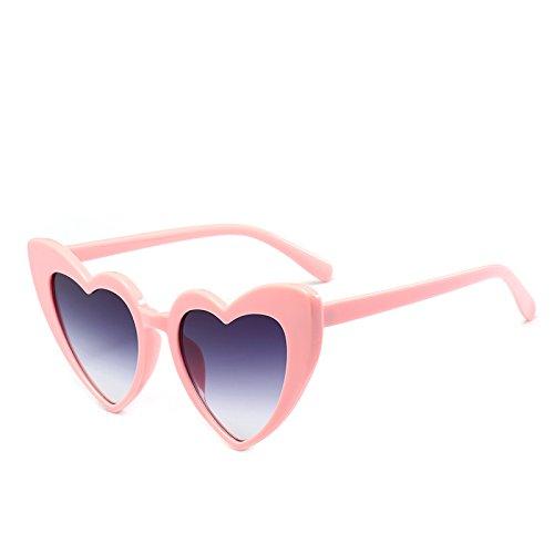 Femme forme claires lentilles 9218 C4 coeur Nouveau soleil les noires Fygrend en Rose de Lunettes Sexy Accessoires Vintage de Lunettes soleil Lunettes C4 de pour Pinkgray PinkGray femmes 7gqwxOXHw