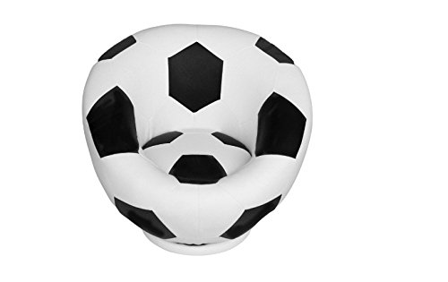 Unique,Durable and Exciting Soccer Ball Kids Swivel Chair, Black/White, Fun Addition to Nursery or Kids Room,Great Gift Idea for Soccer Fans by Generic