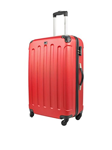 BLUESTAR Set 3 Trolley Rigido Madrid Rosso