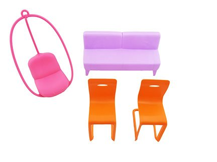 Fisher Price Barbie 3-Story Townhouse - Replacement Furniture