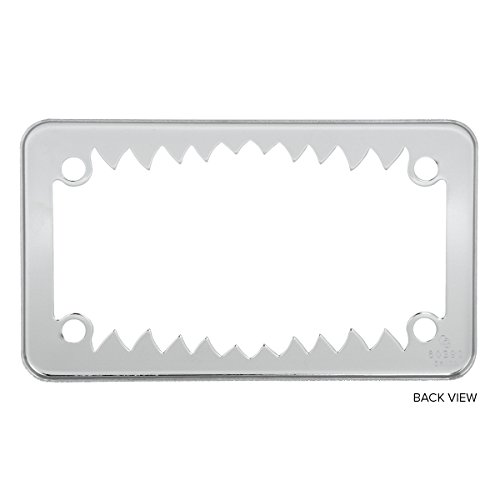 Grand General 60392 Chrome Shark Teeth Motorcycle License Plate Frame by Grand General (Image #1)