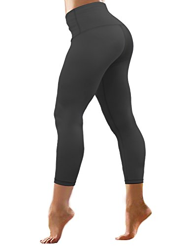 "BUBBLELIME 22""/26\"" Inseam High Compression Yoga Pants Running Pants High Waist Moisture Wicking UPF30+ (Long Pants&Capris)"