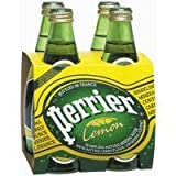 Perrier Lemon Sparkling Water, 11 OZ [Case Count: 6 per case] [Case Contains: 24 Bottles] by Perrier