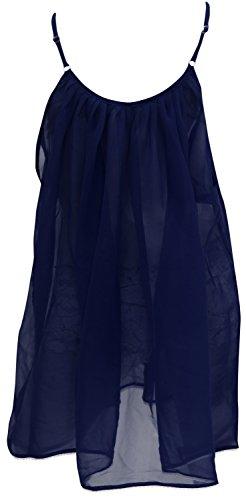 vestido maxi vestido de verano ropa de playa encubrir de tiras traje de baño del traje de baño de las mujeres de civil azul marino