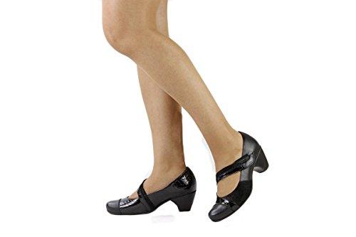 Mujer jane Mary 175403 Negro Piesanto Zapato Cómodo OqTFnS