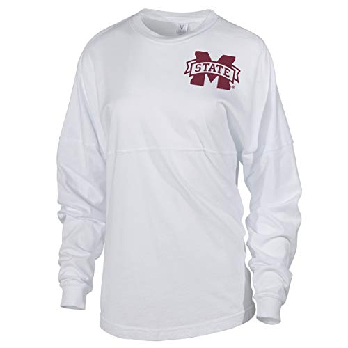 Official NCAA Mississippi State University Bulldogs HAIL STATE BULLY Spirit Wear Jersey T-Shirt ()