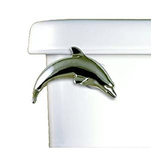 Dolphin Toilet Flush Handle Front Mount in Polished Chrome