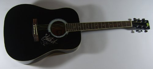 LeAnn Rimes Can't Fight the Moonlight Authentic Signed Autographed Full Size Black Acoustic Guitar Loa