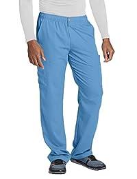 Grey's Anatomy 7-Pocket Zip Cargo Pant for Men - Double Cargo Medical Scrub Pant