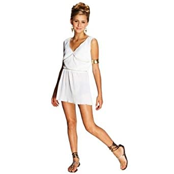 Amazon Womens Grecian Goddess Costume Ancient Greek Toga Dress Juniors Medium 7 9 Clothing