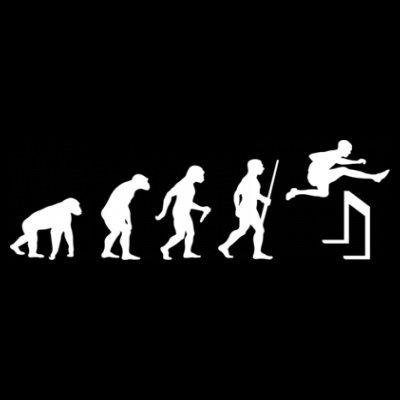 Sudadera con capucha de mujer Hurdling Evolution by Shirtcity Negro