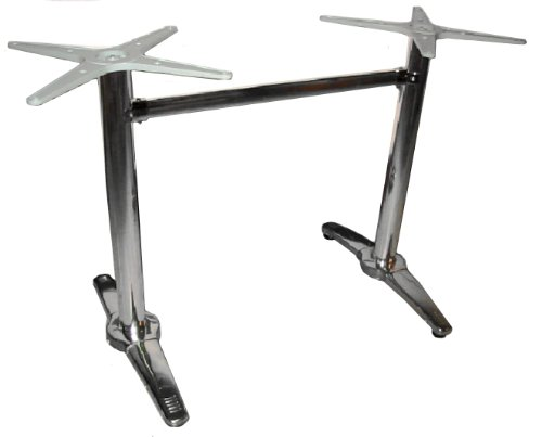 ATC Econox Stainless Steel Clad Rectangle Table Base with Two Aluminum Columns and Spyders, 23-51/64