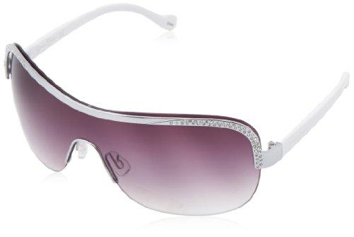Jessica Simpson Women's J5089 Slvwh Shield, Silver & White, 150 mm (Shield Rimless Womens Sunglasses)