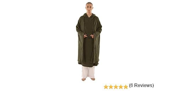 KATUO - Capa de meditación budista con capucha, para mujer y ...