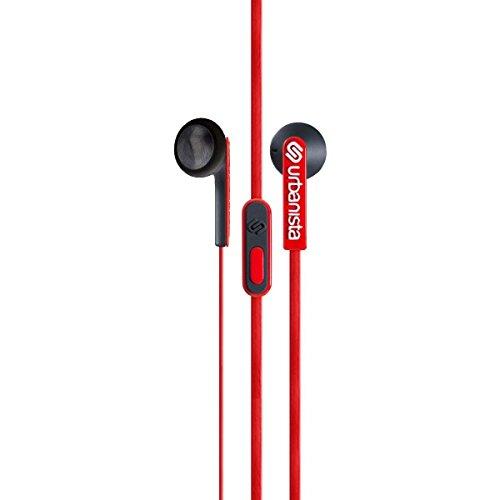 Urbanista Oslo - Auriculares (Binaurale, Azul, Dentro de oído, Alámbrico, 3.5 mm (1/8), 0.85m) Rojo