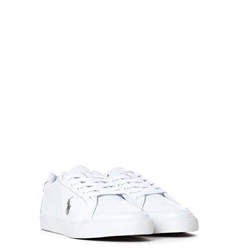Ralph Lauren Sneakers Uomo Y0471RHDBPHUGHA1000 Pelle Bianco