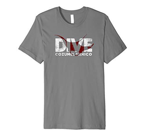 DIVE Cozumel Mexico SCUBA Diver Manta Ray Diving Premium T-Shirt