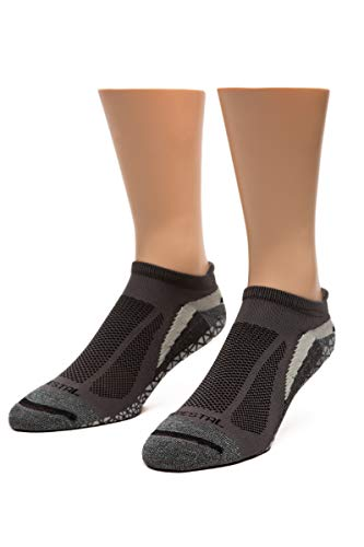 Pedestal Footwear 4.0 Performance & Training Socks| DITCH YOUR SHOES! Made in USA, Charcoal