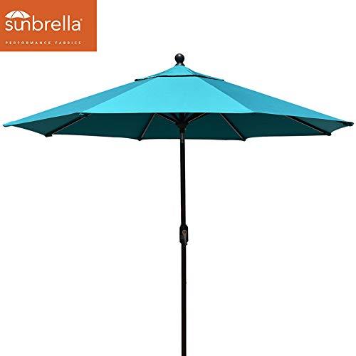 EliteShade Sunbrella 11ft Market Umbrella Patio Outdoor Table Umbrella with Ventilation (Sunbrella Teal)