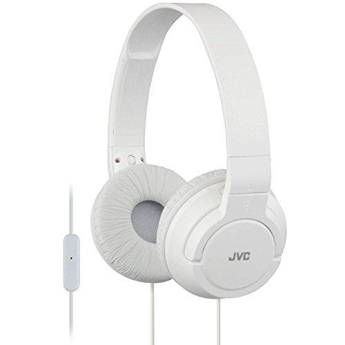 Jvc Folding Headphone (JVC HA-SR185 Lightweight Foldable Headphones with Remote (White))