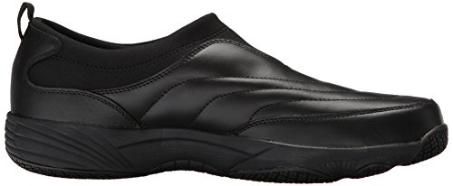 Propét Mens Wash N Wear Slip On Ii Walking Shoe In Pelle Nera