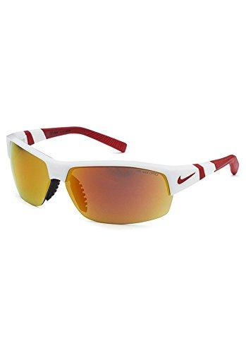 Nike Sunglasses - Show X2 / Frame: White/Team Red Lens: Grey with orange - Sunglasses Baseball Nike