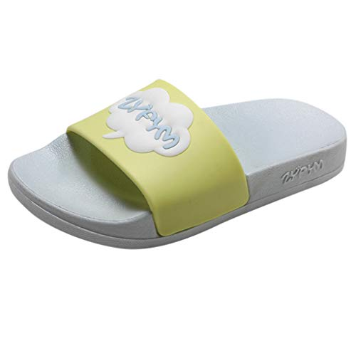 - Tantisy ♣↭♣ Boys Girls Slide Sandals Kids Outdoor Beach Pool Sandal Soft Unicorn Bath Slippers (Toddler/Little Kid) Gray