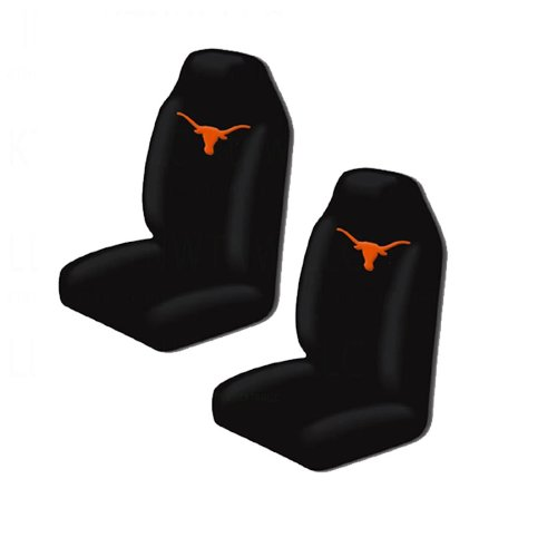 A set of 7 Piece Automotive Gift Set: 2 Front and 2 Rear All Weather Floor Mats , 2 Front Seat Covers, and 1 Wheel Cover - Texas Longhorns by MULTI_B (Image #2)