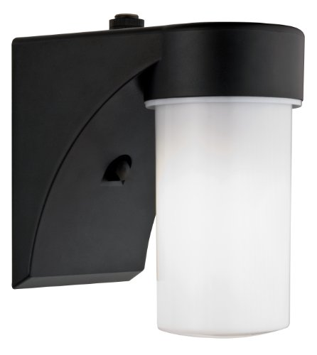 - Lithonia Lighting OSC 13F 120 P LP BL M6 Outdoor Cylinder Wall Light with Dusk to Dawn Photocell, Black
