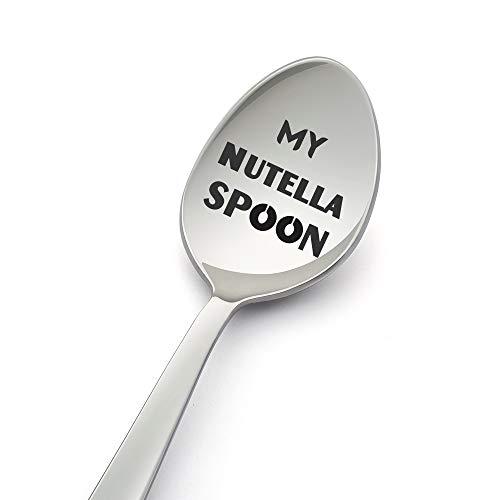 My Nutella Lepel-8 Inch Lepel Ontworpen voor Nutella Lover-Gift Onder £10 – Geschenken voor Hem/Geschenken voor Haar…