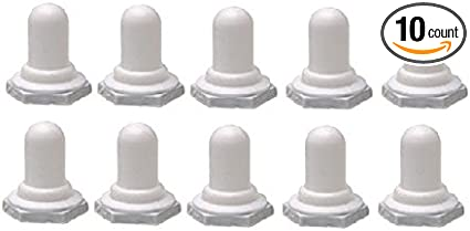 Marine Boat White Non Lighted Toggle Switch Boots 10 Pack