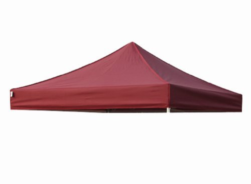 Eurmax New Pop up 10x10 Replacement Instant Ez Canopy Top Cover Choose 15 Colors (Burgundy)