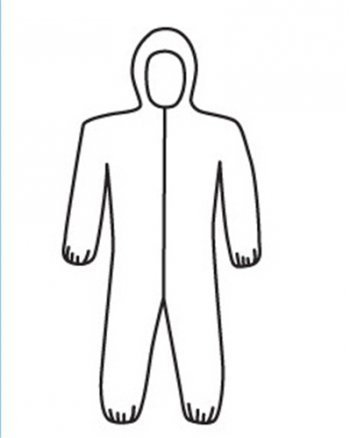 Disposable Suit With Hood And Elastic Wrists 25/Case Size 3XL