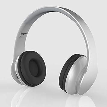 Auriculares,Auriculares Auriculares inalámbricos Bluetooth Computer Universal Reducción de Ruido Auriculares Desgaste Cómodo, Plata