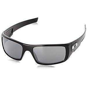 Oakley Men's Crankshaft Rectangular Eyeglasses, Polished Black/Black Iridium, 60 mm
