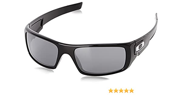 Oakley - Gafas de sol Rectangulares Crankshaft para hombre, Polished Black/Black Iridium: Oakley: Amazon.es: Ropa y accesorios