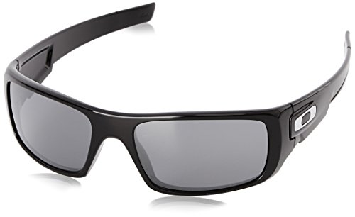 Oakley Men's Crankshaft Polarized Rectangular, Polished Black Iridium, 60 mm