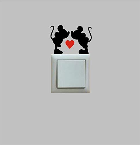 SeedWorld Wall Stickers - Mickey & Minnie Light Switch VINILO Vinyl Decal PEGATINA Wall Sticker Kids Room Decor,M2S1 1 -