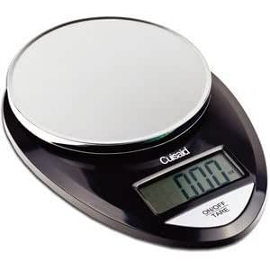 Cuisaid ProDigital AccuWeigh Digital Kitchen Scale With Cuisaid Calorie Guide 11 Lb. Capacity (Black Chrome)