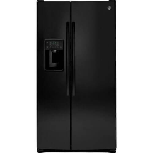 Ge Black Side By Side Refrigerator - 6