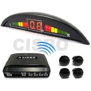 Gold Green Parking Reversing Sensor Kit 4 Sensors LED: Electronics