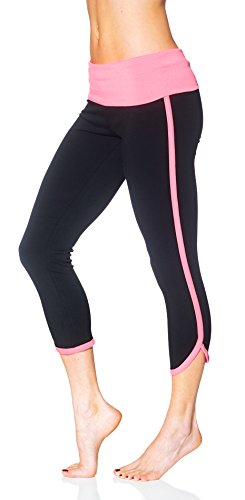 Womens Elastic Waistband Fitted Active