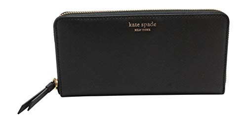 Kate Spade New York Cameron Saffiano Leather Zip Around Large Continental Wallet Black 2019 ()