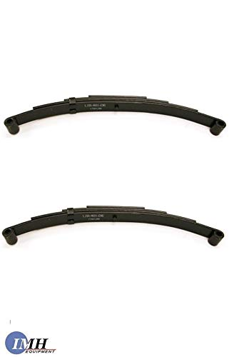 [Buy Two-Piece Sets] Trailer Leaf Spring- SW4 4 Leaf, Double Eye 2500lbs for 5000lbs Axles ()